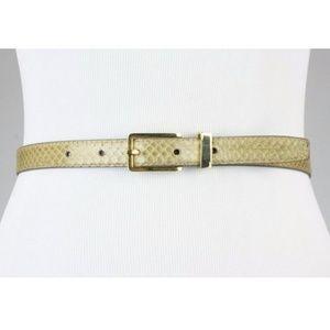 Vintage 80s Genuine Snakeskin Leather Belt